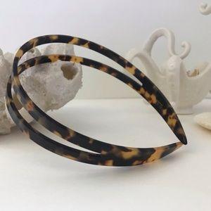 NWOT J.Crew • Tortoise Shell • Double Headband
